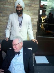 Dr. Bhalla with Dr. Brenemark at Nobel Biocare Conference, Sweden