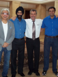 Dr. Bhalla with Dr. Suchetan Pradhan and Dr. Ophir at Goa Dental Conference